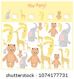 counting game for preschool... | Shutterstock .eps vector #1074177731