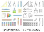 drawing and painting tools for... | Shutterstock .eps vector #1074180227