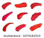 collection of various lipstick... | Shutterstock . vector #1074182315