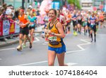 london  uk   april 23  2017 ...   Shutterstock . vector #1074186404