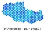 blue hexagon tibet chinese... | Shutterstock .eps vector #1074190637