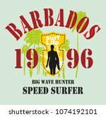 barbados graphic design vector... | Shutterstock .eps vector #1074192101