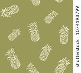 seamless pattern with... | Shutterstock .eps vector #1074193799