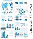 infographic demographics ... | Shutterstock .eps vector #107419961