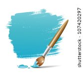 paint brush. blue space your... | Shutterstock .eps vector #107420297