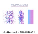 vector big data analysis... | Shutterstock .eps vector #1074207611