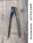 old vintage pliers pincers... | Shutterstock . vector #1074211649