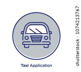 taxi related offset style... | Shutterstock .eps vector #1074213767