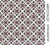 symmetrical ornament seamless...   Shutterstock .eps vector #1074222389