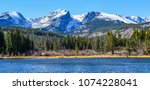 Beautiful Colorado Mountains in the Rockies - stock photo