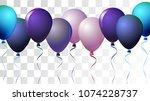 bright realistic helium vector... | Shutterstock .eps vector #1074228737