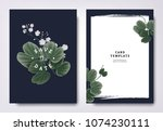 botanical wedding invitation... | Shutterstock .eps vector #1074230111