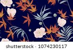 floral seamless pattern ... | Shutterstock .eps vector #1074230117