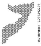 gray hexagonal somalia map.... | Shutterstock . vector #1074242279