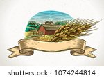 graphical illustration of a... | Shutterstock .eps vector #1074244814