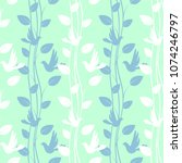 seamless light green pattern... | Shutterstock . vector #1074246797