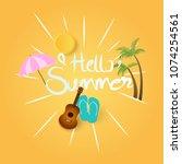 summer background with sun...   Shutterstock .eps vector #1074254561