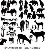 animals it is isolated on a...   Shutterstock .eps vector #107425889