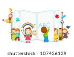vector illustration of kid...