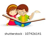 vector illustration of kid... | Shutterstock .eps vector #107426141