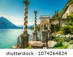 fantastic luxury villa... | Shutterstock . vector #1074264824