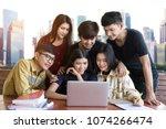 back to school education... | Shutterstock . vector #1074266474