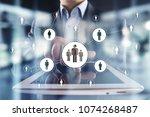 human resource management  hr ... | Shutterstock . vector #1074268487
