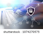 cyber security. data protection.... | Shutterstock . vector #1074270575