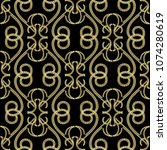 vintage gold embroidery style... | Shutterstock .eps vector #1074280619