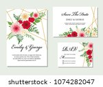 wedding invite  invitation ... | Shutterstock .eps vector #1074282047