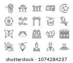 singapore trip icon set.... | Shutterstock .eps vector #1074284237