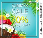summer sale template with... | Shutterstock .eps vector #1074284831