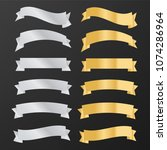 ribbons banners. decor  | Shutterstock . vector #1074286964