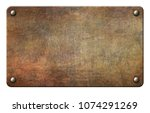old metal texture plate with...   Shutterstock . vector #1074291269
