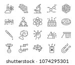 data science icon set. included ... | Shutterstock .eps vector #1074295301