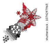 abstract tattoo ornament  | Shutterstock .eps vector #1074297965