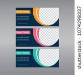 blue banner design. abstract... | Shutterstock .eps vector #1074298337