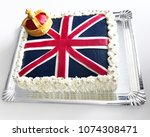 british cake to celebrate the... | Shutterstock . vector #1074308471