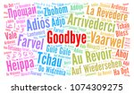 goodbye in different languages... | Shutterstock . vector #1074309275