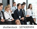 audience of business people at... | Shutterstock . vector #1074309494