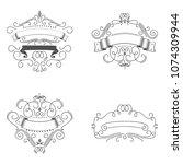 logos template flourishes... | Shutterstock .eps vector #1074309944