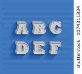 3d metal vintage signage... | Shutterstock .eps vector #1074311834