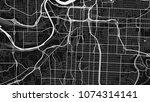 Black White Map Kansas City