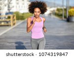 black woman  afro hairstyle ... | Shutterstock . vector #1074319847