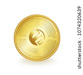 funfair cryptocurrency gold... | Shutterstock .eps vector #1074320639