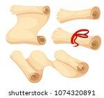 ancient scroll illustration.... | Shutterstock .eps vector #1074320891