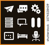 set of 9 other filled icons... | Shutterstock .eps vector #1074328439