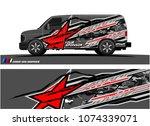 cargo van graphic. abstract... | Shutterstock .eps vector #1074339071