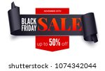 black friday sale  horizontal...   Shutterstock .eps vector #1074342044