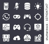 technology filled vector icon... | Shutterstock .eps vector #1074347147